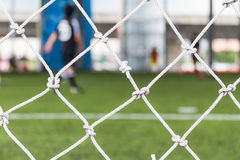 Football goal net Royalty Free Stock Images