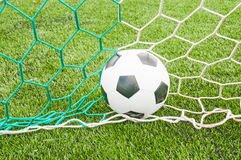 Football. In the goal net Royalty Free Stock Photography