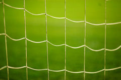 Football goal net close up Royalty Free Stock Images