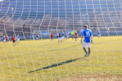 Football goal net close up. Football and soccer goal net close up Stock Images