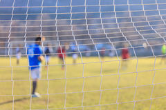 Football goal net close up. Football and soccer goal net close up Royalty Free Stock Images