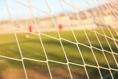 Football goal net close up. Football and soccer goal net close up Stock Photo