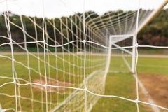 Football goal net close up. Football and soccer goal net close up Stock Photos