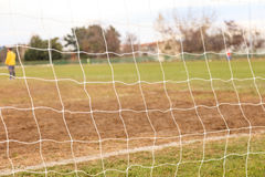 Football goal net close up. Football and soccer goal net close up Stock Image