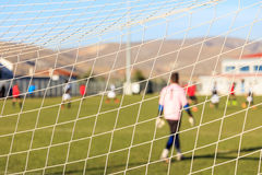 Football goal net close up. Football and soccer goal net close up Stock Photography