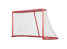 Football goal with net isolated on white background. 3d render i Royalty Free Stock Photos
