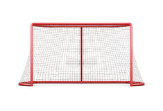 Football goal with net isolated on white background. 3d renderin. Football goal with net isolated on white background. Front view.3d rendering Stock Images
