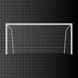 Football goal with net on a transparent background. Vector illustration Royalty Free Stock Photos
