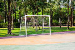 Football goal. In the park Stock Image