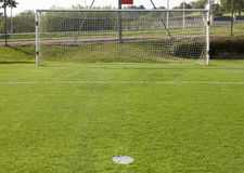 Football goal and penalty point detail Stock Photo