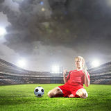 Football goal Royalty Free Stock Photo