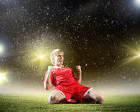 Football goal Stock Photography