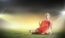 Football goal royalty free stock photo