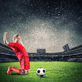 Football goal Royalty Free Stock Photography