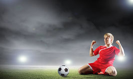 Football goal Royalty Free Stock Image