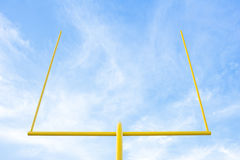 Football Goal post. With blue sky background at stadium Stock Photography