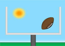 Football through goal post Royalty Free Stock Photo
