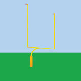 Football goal post Royalty Free Stock Photos