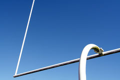 Football goal post Stock Photo