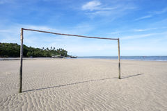 Football Goal Post Empty Brazilian Beach Football Pitch Royalty Free Stock Image