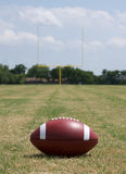 Football with the Goal Posts Beyond Royalty Free Stock Photos