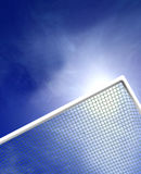 Football Goal Posts. Goal Posts with blue sky and copyspace Stock Photography
