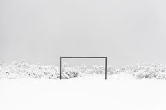 football goal in snow Stock Photography