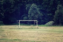 Football goal. Stock Photo