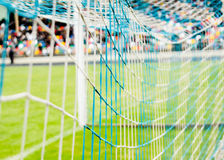 Football goal on the stadium Stock Image