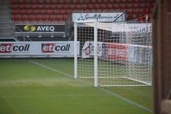 Football goal at the stadium of Sparta in Rotterdam royalty free stock photos