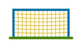 Football goal vector illustration. Soccer goal post with net. Association football goal on field. Qualitative vector illustration football goal for soccer Stock Image