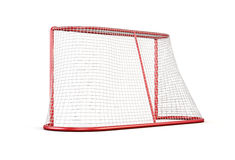 Football goal on white background. 3d rendering Royalty Free Stock Photos