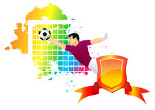 The football goalkeeper Stock Photo