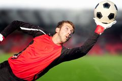 Football goalkeeper Royalty Free Stock Images