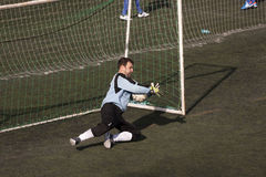 Football goalkeeper Royalty Free Stock Photography