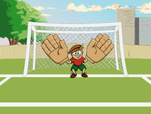 Football goalkeeper at the gate Royalty Free Stock Images