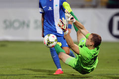 Football goalkeeper save Stock Photography