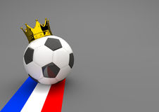 Football Golden Crown France Royalty Free Stock Photography