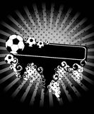 Football on a grange background Royalty Free Stock Image