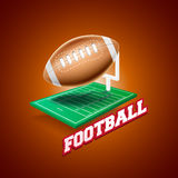 Football. Graphics and banner for  sport Stock Photo