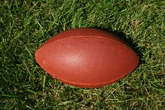 Football in Grass. On sunny day Royalty Free Stock Photo