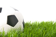 Football on grass. Football on artificial grass. Isolated Royalty Free Stock Image