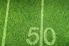 Football grass. American football field on green grass Royalty Free Stock Image