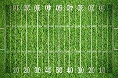 Football grass. American football field on green grass Stock Photo
