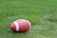 Football In Grass Stock Photo