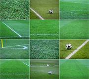 Football grass Stock Image