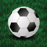 Football on a grass background Stock Photo