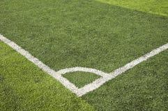 Football grass field corner view Stock Photography