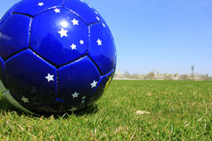 Football. On a grass lawn of sports stadium Royalty Free Stock Photography