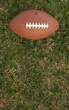 Football on grass with room for copy. American football on green grass with room for copy Stock Photos